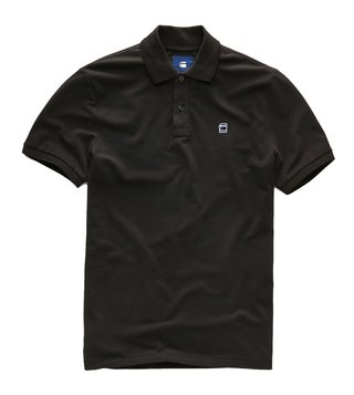 G-Star RAW Black Polo Collar Dunda T-Shirt