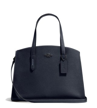 Coach Dark Midnight Navy Charlie Carryall Satchel