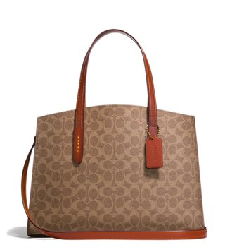 Coach Rust Signature Charlie Carryall Satchel
