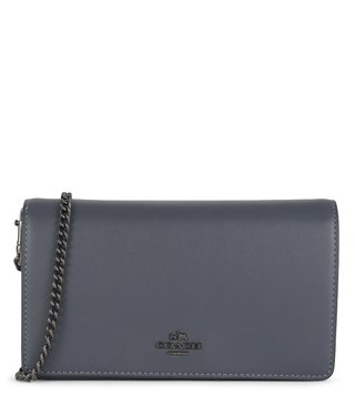 Coach Midnight Navy Foldover Chain Cross Body Bag