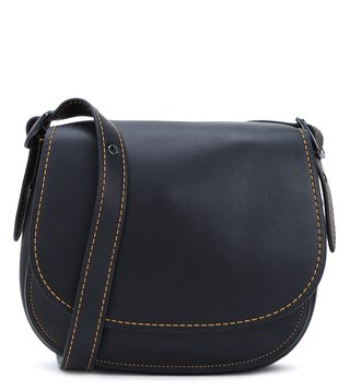 Coach Black Saddle 23  Cross Body Bag