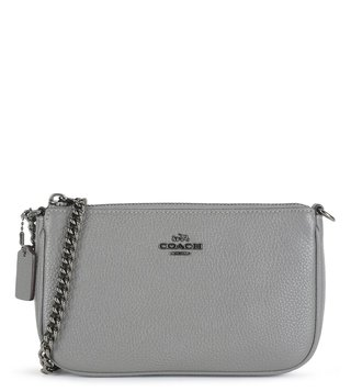Coach Dark Heather Grey Nolita 19 Wristlet