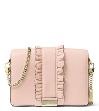 MICHAEL Michael Kors Soft Pink Jade Medium Leather Clutch
