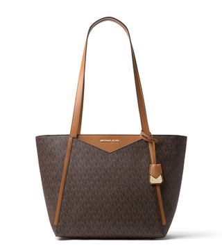 MICHAEL Michael Kors Brown Whitney Signature Small Tote Bag