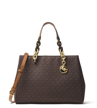 MICHAEL Michael Kors Brown Cynthia Signature Medium Satchel