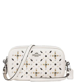 Coach Chalk Prairie Rivets Crossbody Clutch