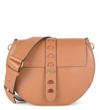 Coccinelle Cuir Textured Carousel Cross Body Bag