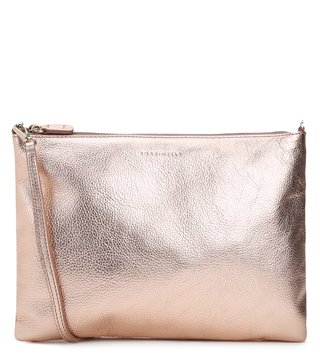 Coccinelle Rose Gold Textured New Best Cross Body Bag