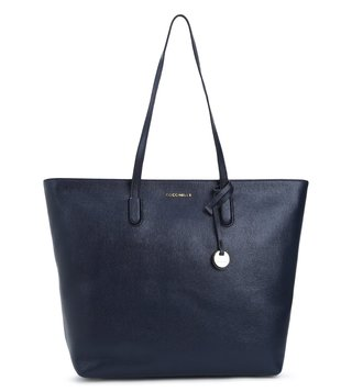 Coccinelle Navy Clementine Medium Leather Tote