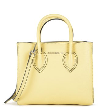 Coccinelle Yellow Farisa Small Leather Satchel