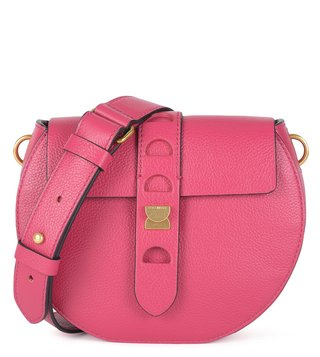 Coccinelle Framboise Textured Carousel Cross Body Bag