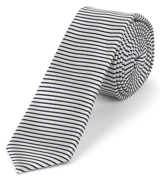 Hugo Boss White & Black Silk Business Tie