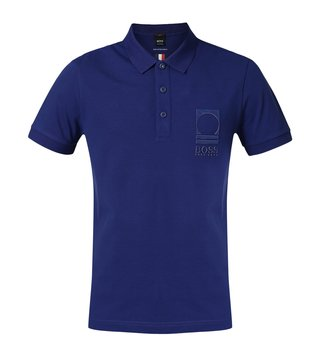 Hugo Boss Dark Blue Paule Flag Athleisure Polo T-Shirt