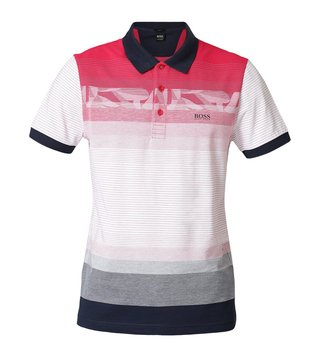 Hugo Boss Bright Pink Paule 6 Athleisure Polo T-Shirt