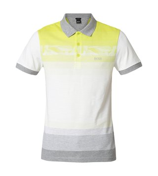 Hugo Boss Bright Yellow Paule 6 Athleisure Polo T-Shirt