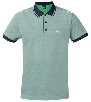 Hugo Boss Medium Green Paddy 2 Athleisure Polo T-Shirt
