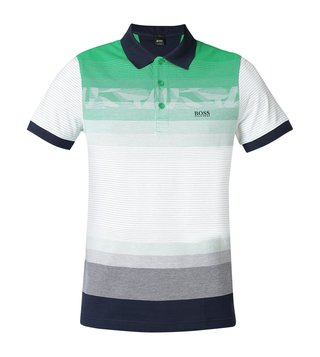 Hugo Boss Medium Green Paule 6 Athleisure Polo T-Shirt