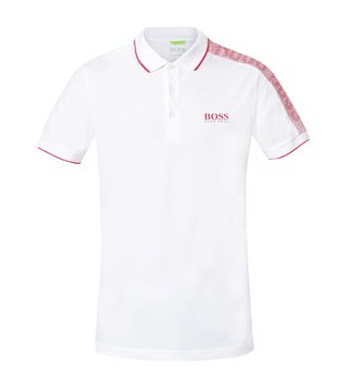Hugo Boss White Paule Athleisure Polo T-Shirt