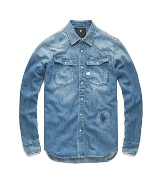 G-Star RAW Blue 3301 Graft Restored 184 Shirt