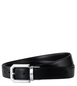 Montblanc Black & Brown Reversible Cut-To-Size Belt