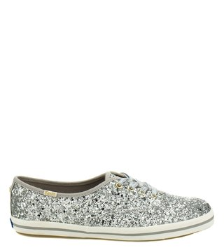 Kate Spade Silver Canvas Sneakers