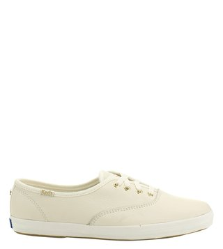 Kate Spade Cream Canvas Sneakers