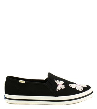 Kate Spade Black Double Decker Canvas Sneakers