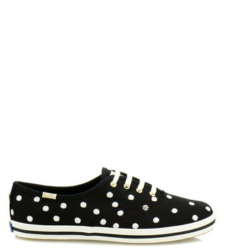 Kate Spade Black Canvas Sneakers