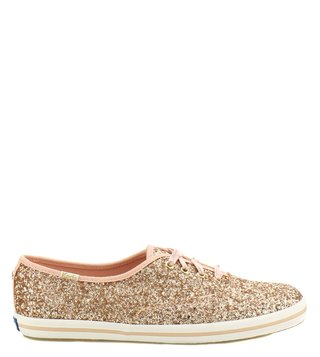 Kate Spade Rose Gold Canvas Women Sneakers