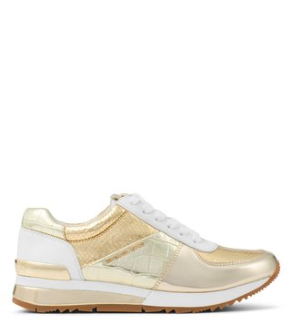 MICHAEL Michael Kors Pale Gold & Optic White Allie Sneakers