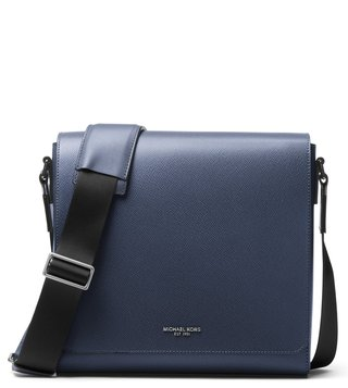 MICHAEL Michael Kors Navy Harrison Leather Cross Body Bag