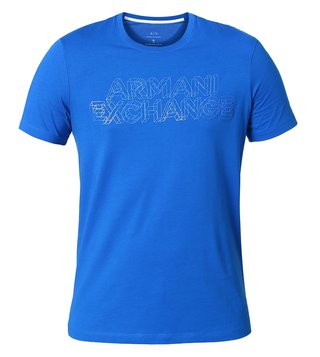 Armani Exchange Lapis Blue Classic Signature Slim Fit T-Shirt