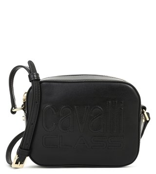 Cavalli Class Black Nancy Small Cross Body Bag