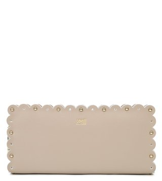 Cavalli Class Taupe Leolace Leather Wallet