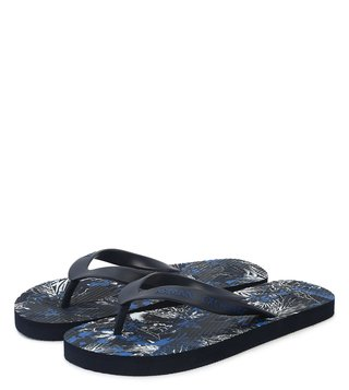 Armani Exchange Exotic Blue Allover Printed Flip Flops