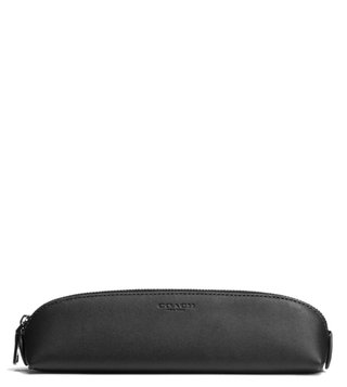 Coach Black Pencil Case Pouch