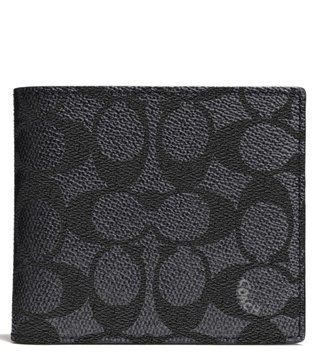 Coach Charcoal Coin Wallet
