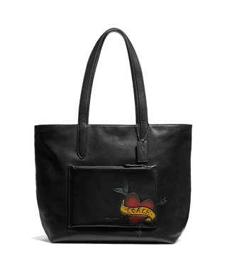 Coach Black Metropolitan Soft Leather Tote