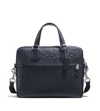 Coach Midnight Hudson 5 Leather Laptop Bag