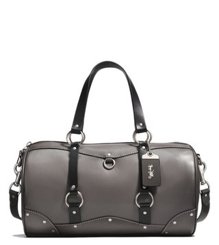 Coach Heather Grey Carryall Leather Duffle Bag