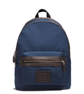 Coach Bright Navy & Chestnut Academy Backpack