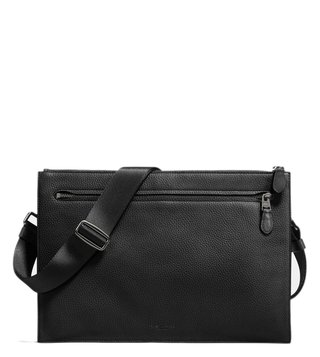 Coach Black Manhattan Convertible Slim Cross Body Bag