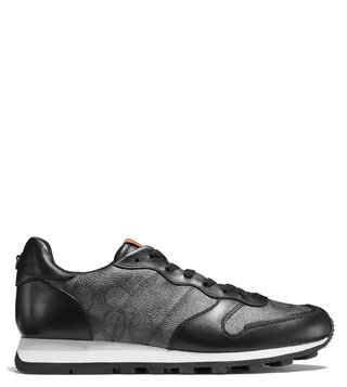 Coach Charcoal Signature C118 Runner Sneaker
