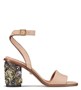 Coach Beechwood Tea Rose Mid Heel Sandals