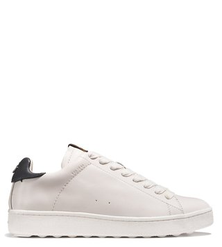 Coach White & Navy C101 Low Top Sneakers