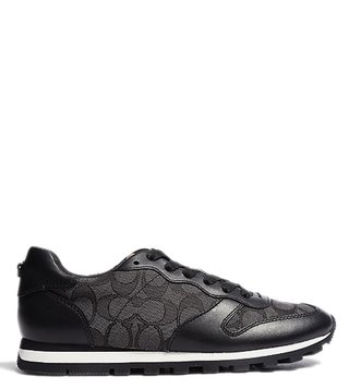 Coach Black Smoke Signature C125 Runner Sneakers