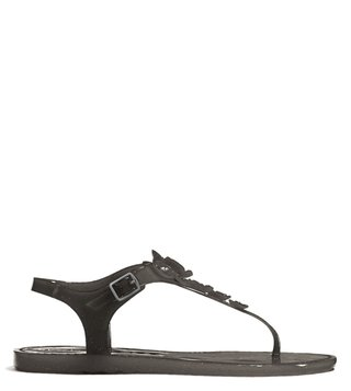 Coach Black Tea Rose Jelly Sandals