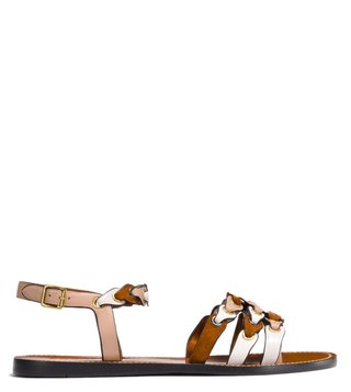 Coach Multicolor Ankle Strap Sandals