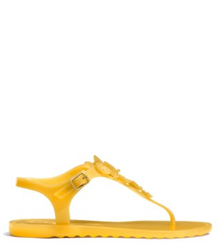 Coach Canary Tea Rose Jelly Sandals