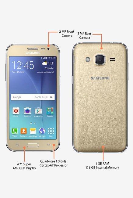 Samsung Galaxy J2 J200G 8GB Gold 1 GB RAM Dual Sim 4G